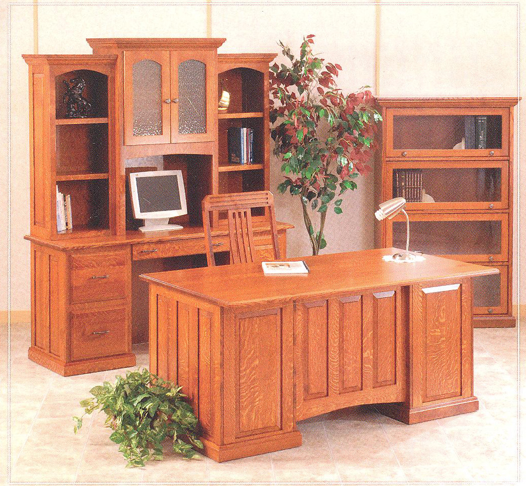 Captivating Desk Chairs, File Cabinets And Bookcases Are Also Available To Complete  Your Office. Bookcases Can Be Built Any Size You Need With Different Styles  ...