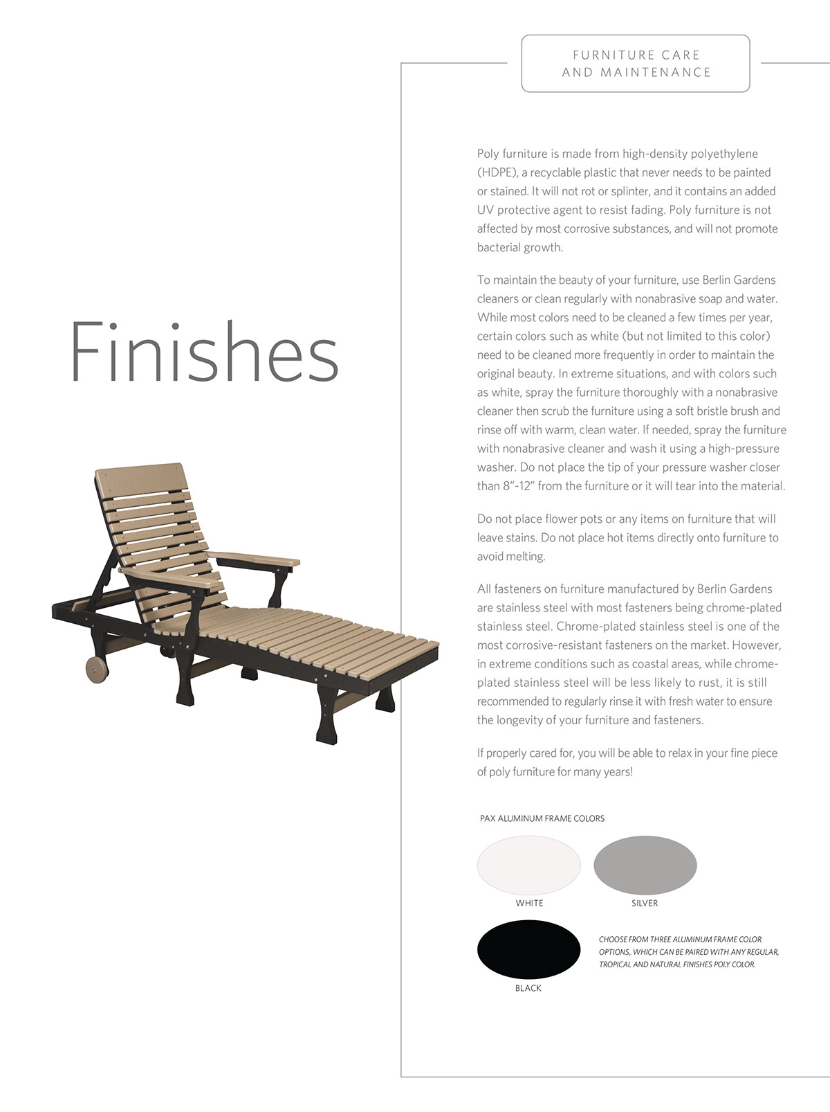 Outdoor Furniture Finishes