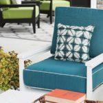 Mayhew White Club Chair with Dupione Deep Sea Fabric