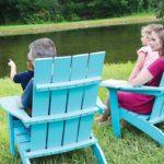 Mayhew Stationary Aruba Blue Adirondack Chairs