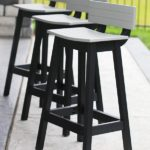Outdoor Saddle Bar Stool with Back Kit